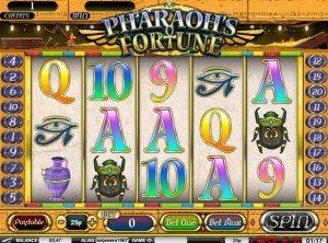 Pharaohs fortune fruit machine