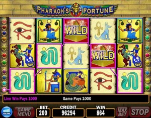 Pharaohs fortune fruit machines