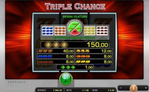 triple chance fruit machine